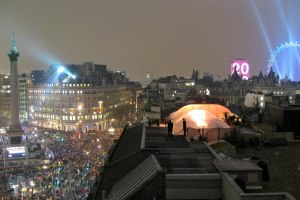 New Year celebration at Trafalgar Square