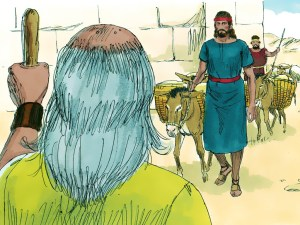 Saul and servant meet Samuel