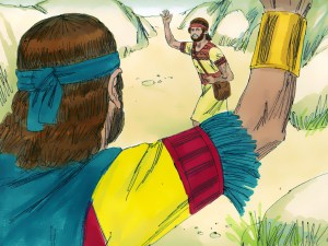 David departs to avoid Saul