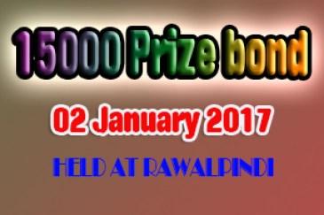Prize Bond List 15000 - Draw # 69 Result National Savings 2 Jan, 2017