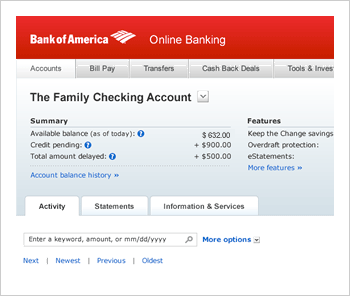 Online Banking From Bank Of America  Enroll Online Today