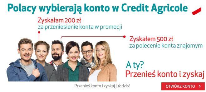 Przenieś konto do Credit Agricole