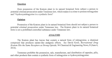 Kratom in Tennessee