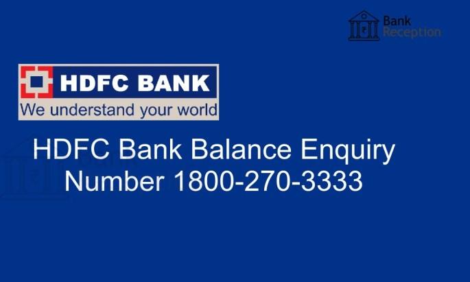 HDFC balance check