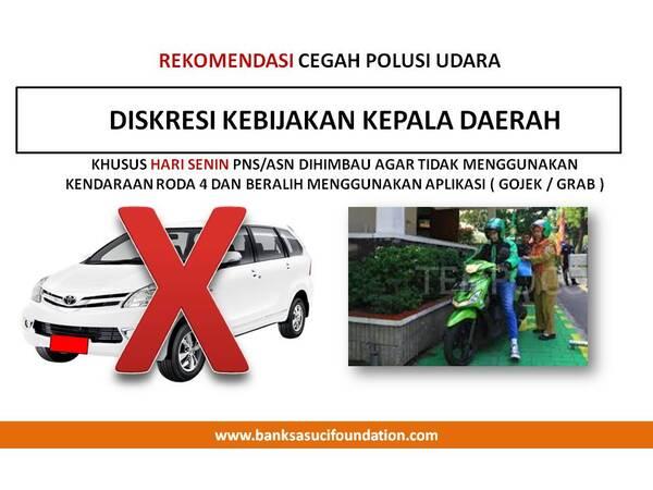 rekomendasi cegah polusi udara by Banksasuci