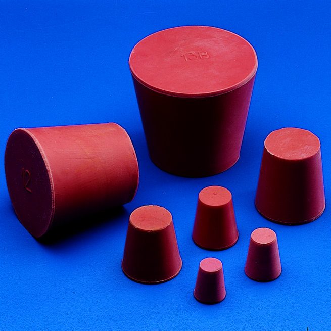 CONICAL STOPPERS - Red Rubber - Solid   | 30 x 21 mm