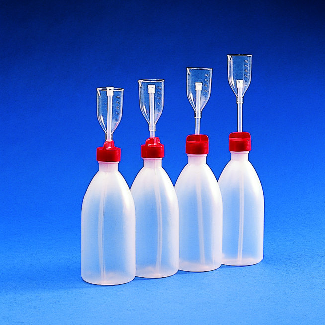 ADJUST. VOLUME DISPENSER BOTTLE PE/TPX   | 25/250 ml
