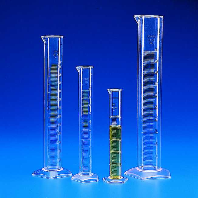 GRAD. TALL MEASURING CYLINDERS TPX   | 500 ml