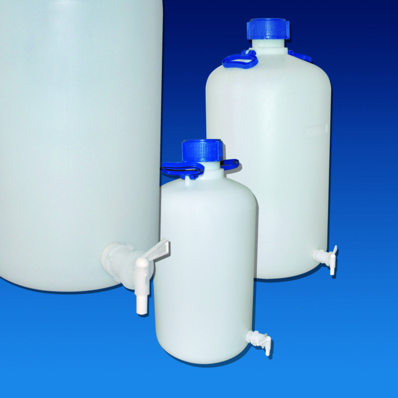 ASPIRATOR BOTTLES HDPE  with Tap Cat. 375   | 5 lt
