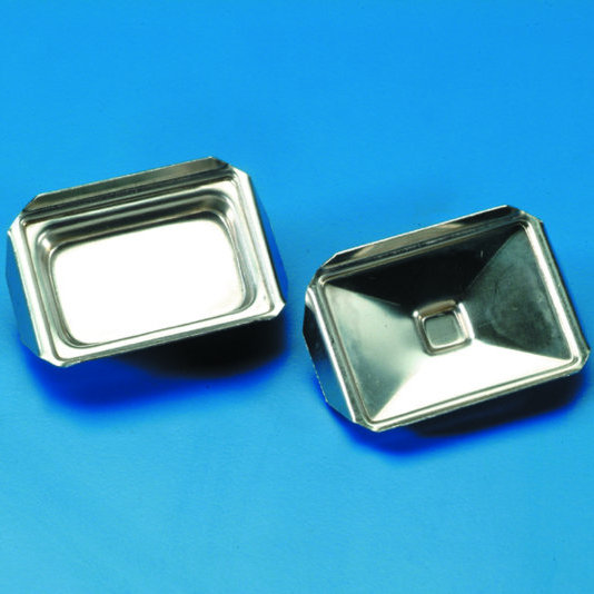 TRAYS for Histology Polished Stainless Steel 23 x 36 mm internal Pkt of 10  | 'Standard'