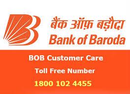 BOB Bank of Baroda customer care toll free helpline number
