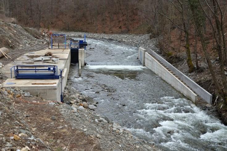 Planska hydropower plant, under construction, financed by Erste Bank