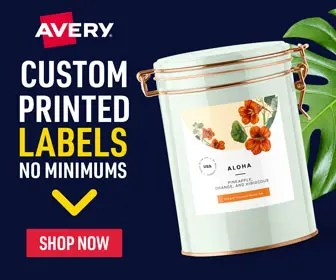 AVERY_Custom printed labels_336×280のバナーデザイン