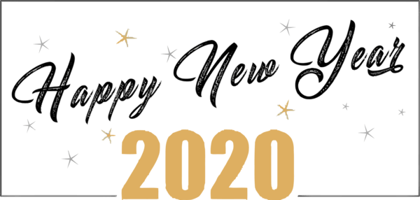 New Year Font Text Calligraphy For Happy New Year 2020 For