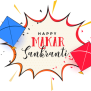 Makar Sankranti Text Line Font For Happy Makar Sankranti