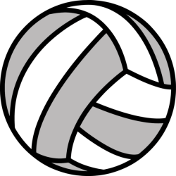 Volleyball Black And White Ball Circle Clipart Volleyball Clipart Sports Clip art
