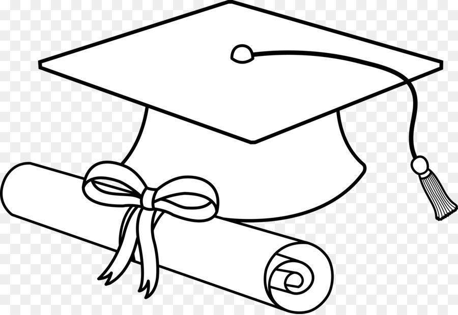 Square academic cap Graduation ceremony Schwarz und weiß