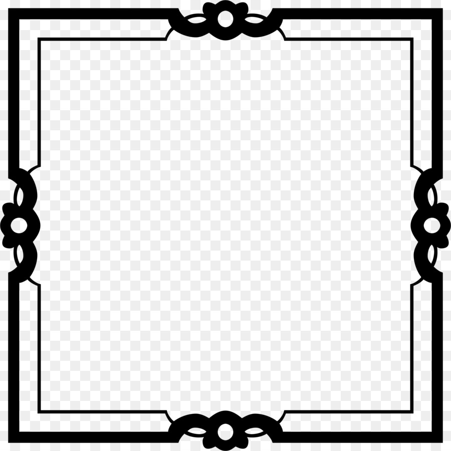 Black And White Frame Png Download 2340 2340 Free Transparent
