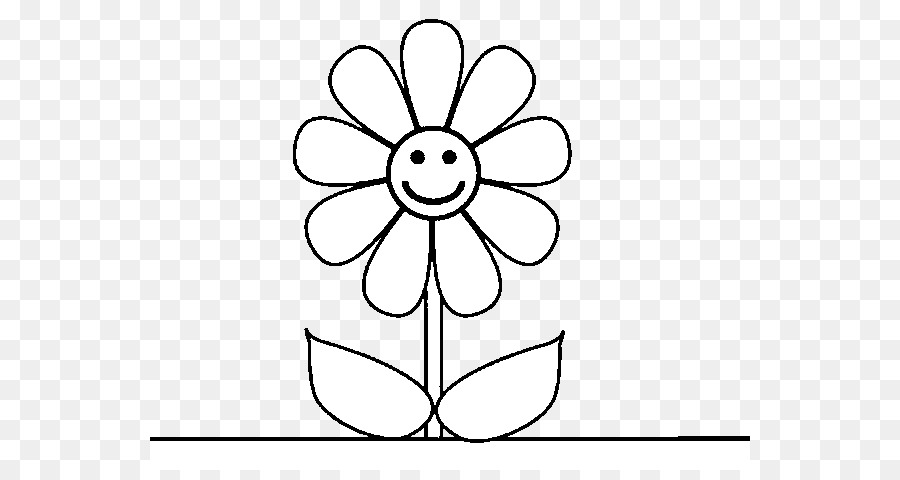 Black And White Flower png download - 600*470 - Free Transparent ...