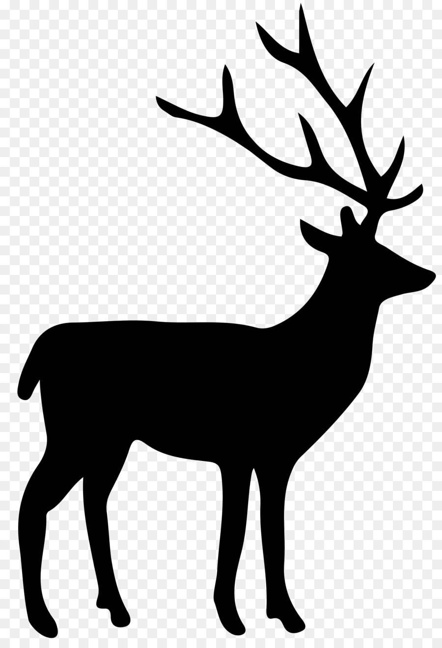 Moose Antler Silhouette : moose, antler, silhouette, Silhouette, Download, 5487*8000, Transparent, Download., CleanPNG, KissPNG