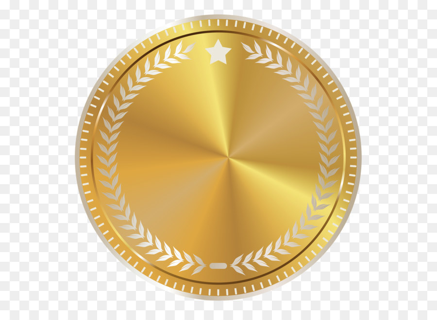Gold Seal Clip Art Gold Seal Badge With Decoration Png