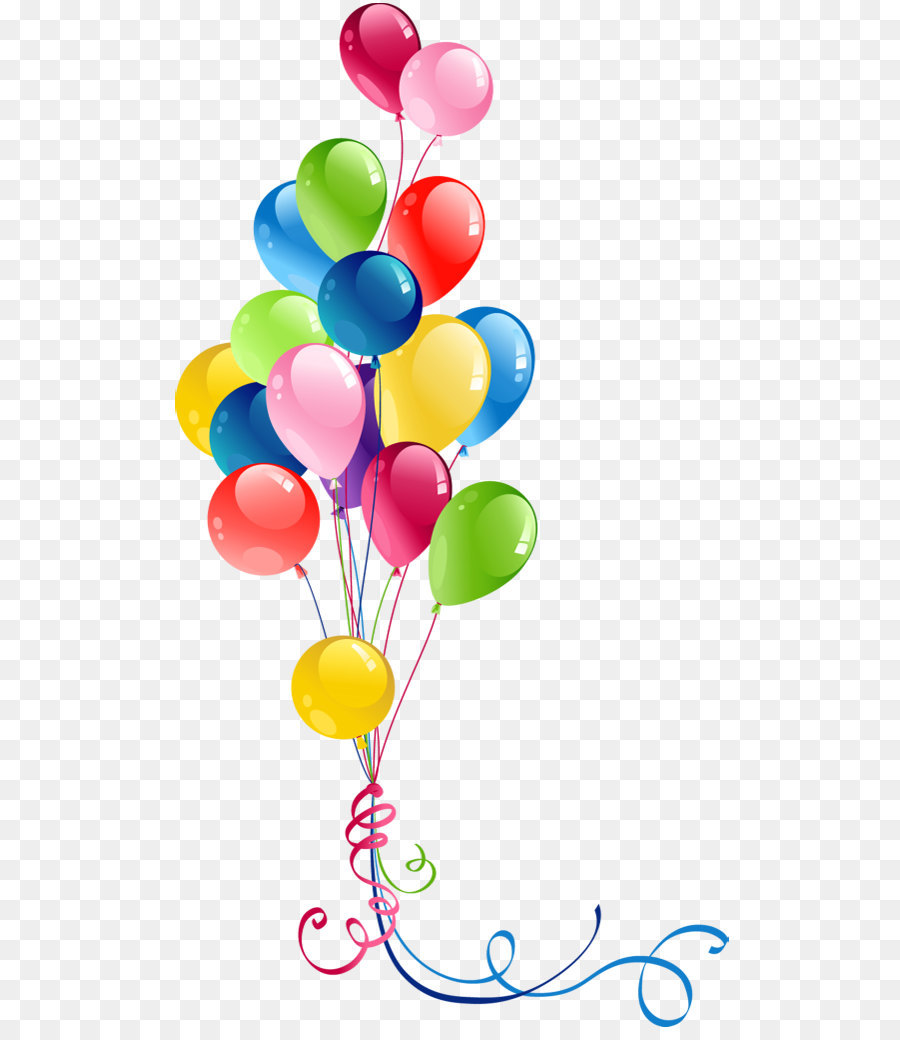 hight resolution of balloon birthday greeting note cards heart petal png