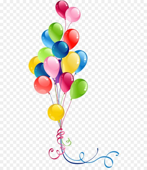 small resolution of balloon birthday greeting note cards heart petal png