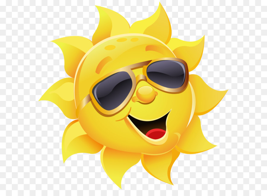 Aviator Sonnenbrille Stock illustration clipart  Sonne mit Sonnenbrille PNG Clipart Bild png