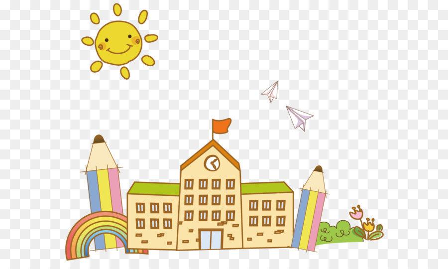 Cartoon School  Cartoon school building png download