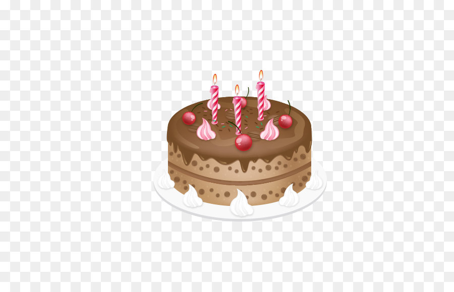 Cartoon Hand Painted Birthday Cake Png Download 572564 Free
