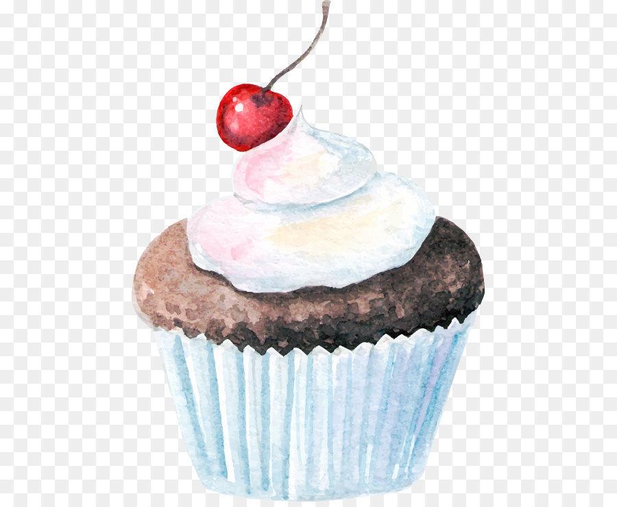 Watercolor Cupcakes Png Download 515732 Free Transparent