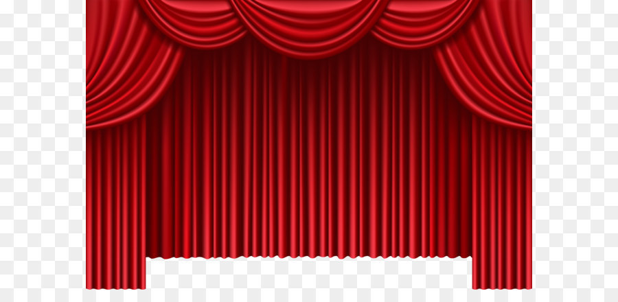 Theater Drapes And Stage Curtains Window Clip Art Red Curtains PNG Png Download 80005196