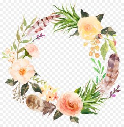 floral watercolor clip flower aesthetic wreath