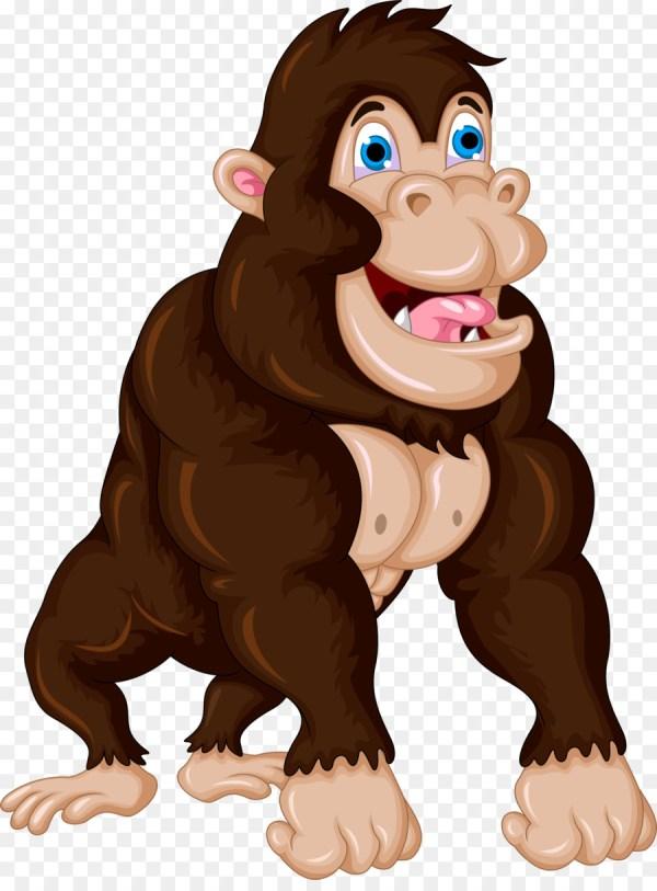 Gorilla Cartoon Chimpanzee Clip Art