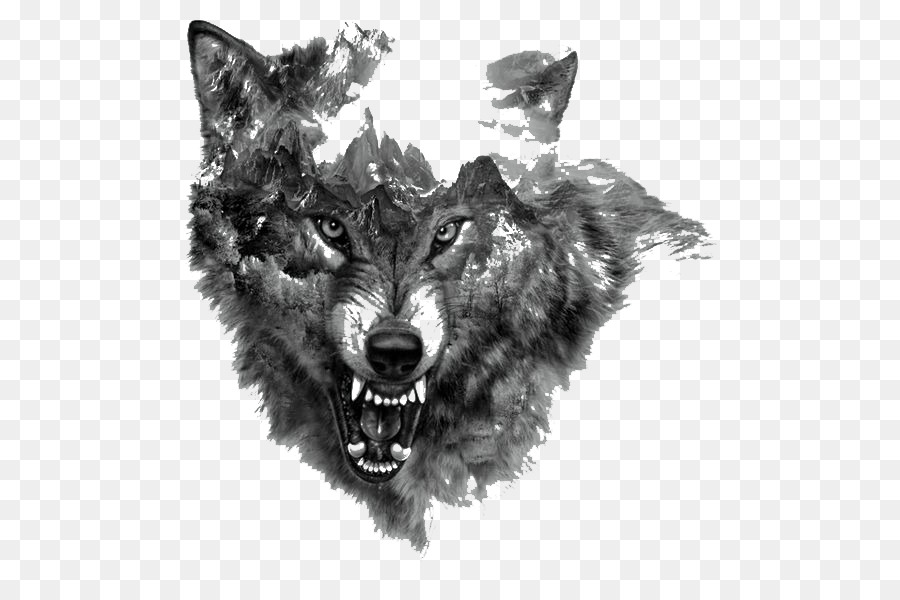 White Wolf Vs Black Wolf Tattoo