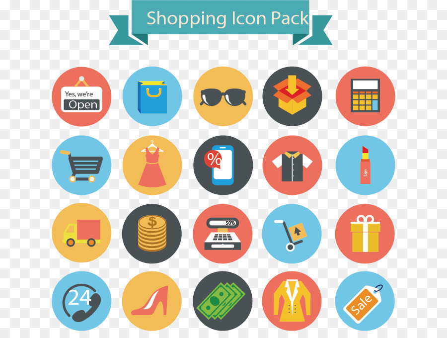 Smiley Girl Wallpaper Shopping Icon Shopping Flat Icons Png Download 692 666