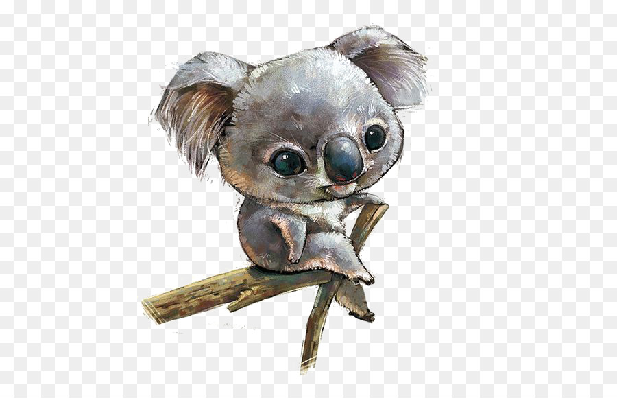 Wallpaper Cute Baby Cartoon Koala Scalable Vector Graphics Illustration Hand Painted