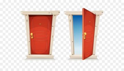 cartoon door open closed