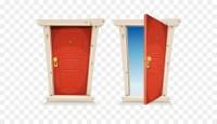 Door Cartoon Stock illustration Illustration - Open the ...