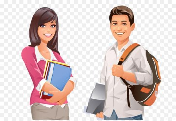 College Student Cartoon Picture