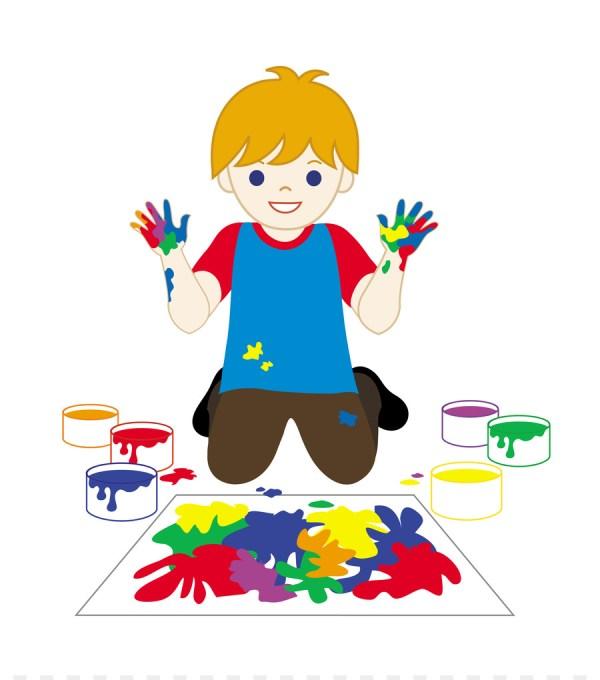 Cartoon Kid Painting Kids