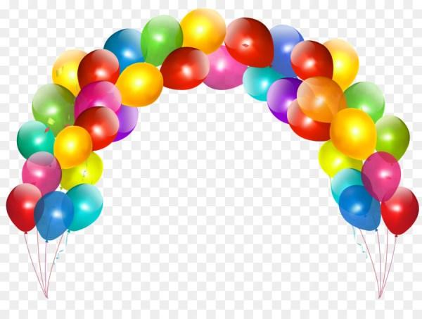 balloon birthday cake party clip
