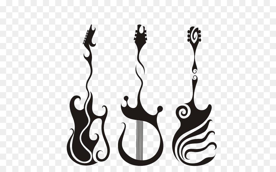 Electric Guitar Tattoo Designs