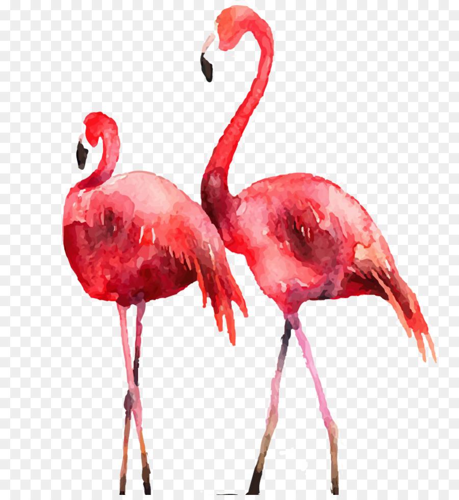 flamingo watercolor png download