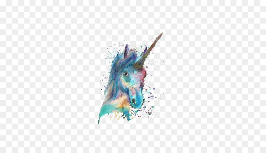 Unicorn Watercolor Painting Canvas Watercolor Unicorn Png Download 510510 Free