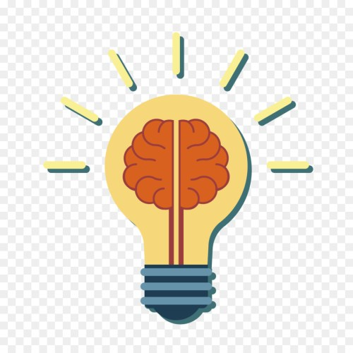 small resolution of light brain incandescent light bulb diagram line png