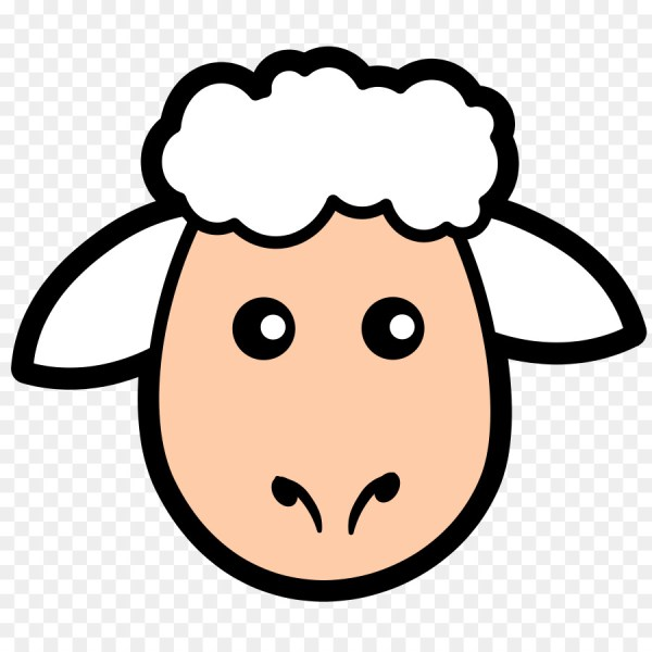 sheep lamb and mutton face clip