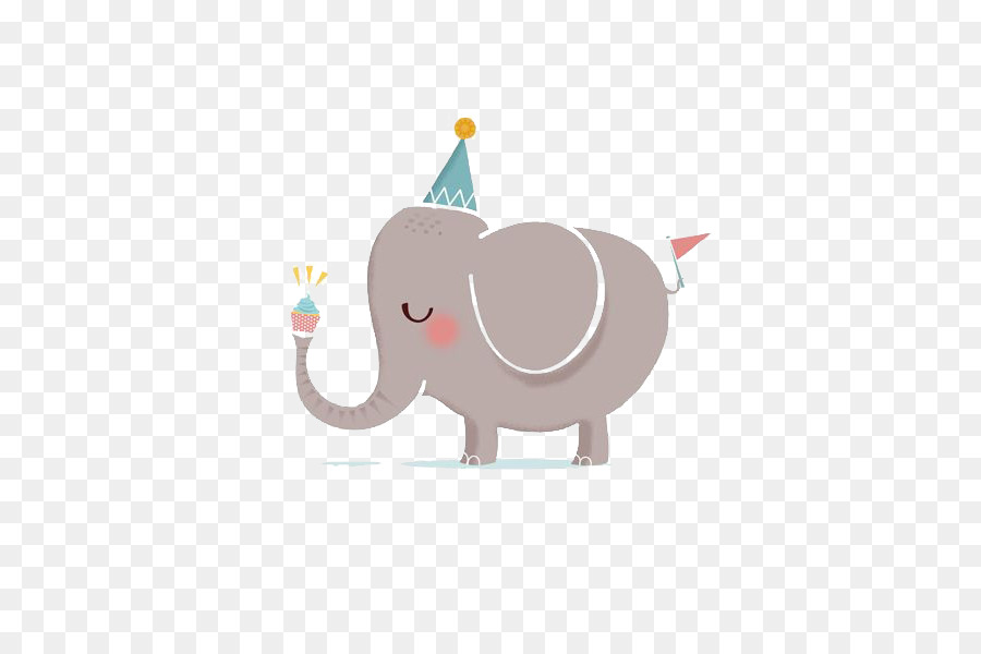 Happy Birthday To You Greeting Card Clip Art Elephant