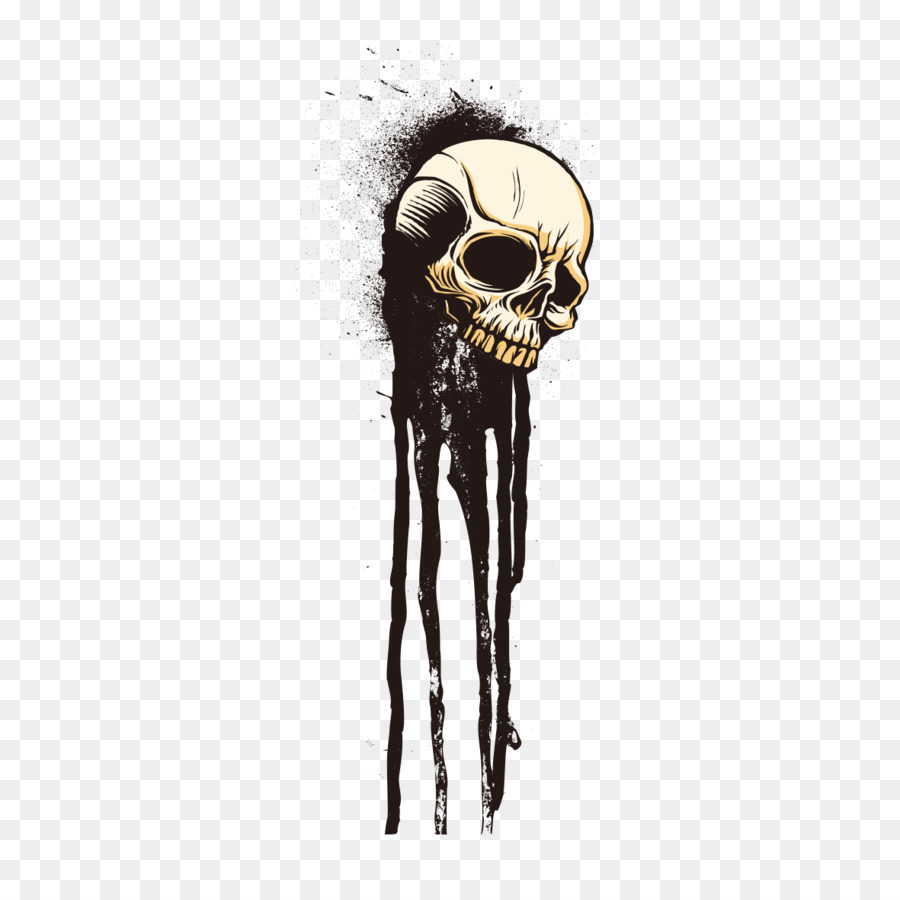 hight resolution of tshirt skull drawing bone png
