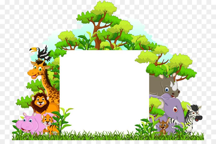 floral background frame png